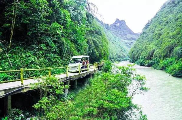 阿依河观光车